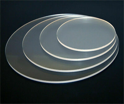 Clear Acrylic Perspex Discs Circles Laser or Routered to Your Size 3 5 6 8 10mm