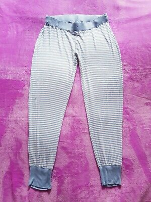 Blooming Marvellous maternity Size M striped pyjama trousers - Light blue/White