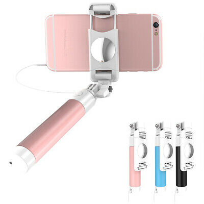 Mini Handheld Wired Selfie Stick Lightweight Adjustable Cute Extendable Durable