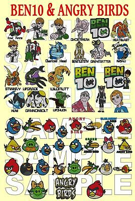 2 In 1, Angry Birds & Ben 10, Pes,   Embroidery Machine Designs On A Cd