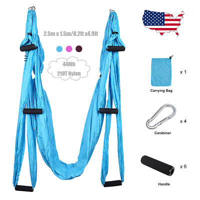 Anti-gravity Yoga Swing Hammock Body Aerial Trapeze Flying Sling Inversion Home