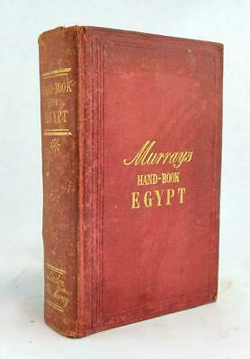 1875 Murray's Handbook For Travellers In Egypt Maps Nile Cairo Thebes 5th Ed