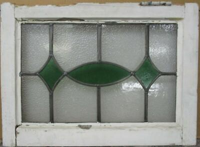 "OLD ENGLISH LEADED STAINED GLASS WINDOW Simple Ellipse Design 20.5"" x 14.75"""