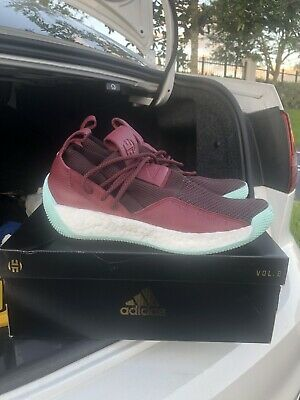 72d0f40e1b0 Adidas James Harden LS 2 Lace Basketball Shoes CG6277 Maroon Clear Mint  Size 8.5