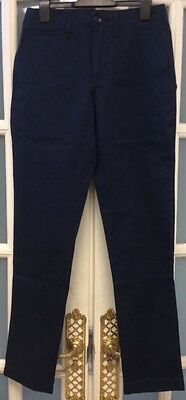 Bnwt Mens/Boys Lyle & Scott Smart Navy Trousers Size 28R Rpp £85