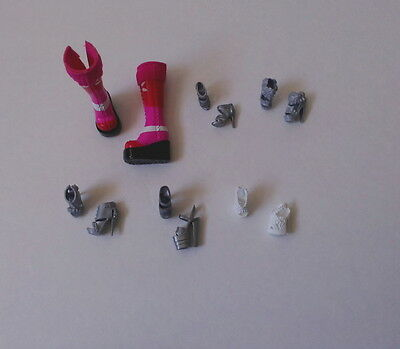 BARBIE Dolls **6 PAIRS SHOES** Friends & Family Accessories Boots Pink Gray NEW