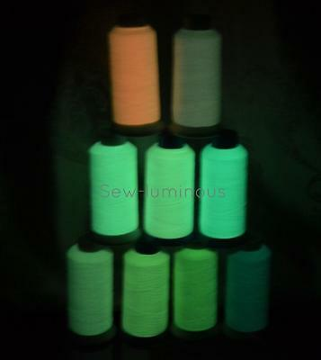 Free Shipping 3000M Glow In The Dark Embroidery Thread,9 Colors For Choosing