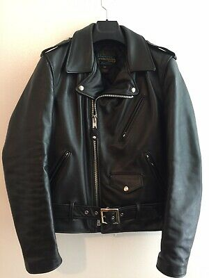 [Brand New] Schott Nyc 613 Sh Horsehide Leather Size 38 Perfecto Jacket Black