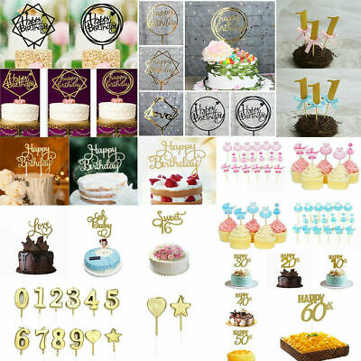 Creative Cake Topper Happy Birthday Number 0-9 Candle Party Supplies Decoration