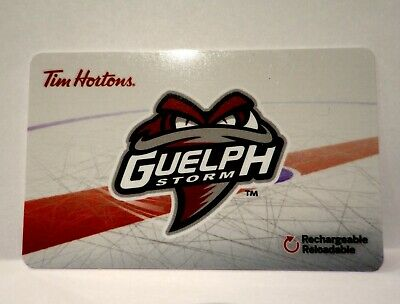 OHL GUELPH STORM 2018/19 Tim Hortons Gift Card Never Used
