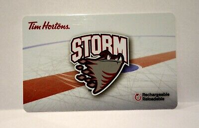 OHL GUELPH STORM 2017/18 Tim Hortons Gift Card Never Used