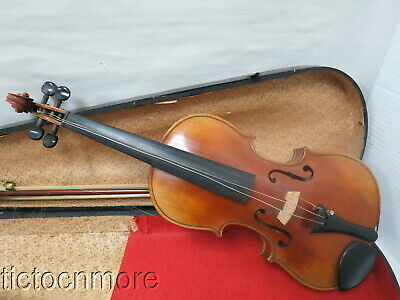 VINTAGE COPY OF JACOBUS STAINER VIOLIN MADE IN GERMANY w/ BOWS & CASE