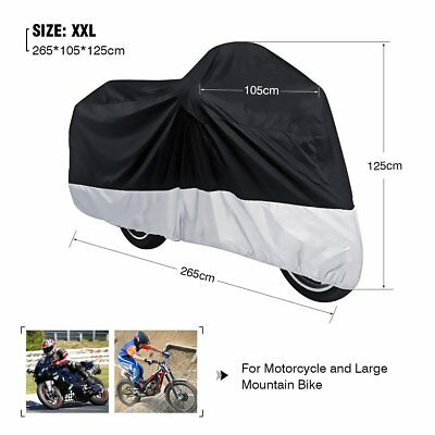 XXL Large Motorcycle Motor Bike Scooter Waterproof UV Dust Protector Rain Cover