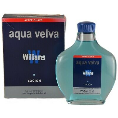 200ML Williams Aqua Velva Fragancia Masculina Vintage As After Shave Aftershave