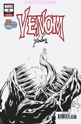 Sdcc 2018 Venom #3 Px Exclusive Sketch Variant Cover Donny Cates Comic Book 1