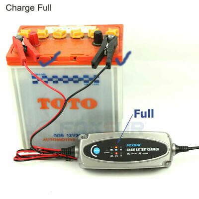 12V 5-Stages Battery Charger Maintainer 3.6Amp Car Trickle Automobile EU