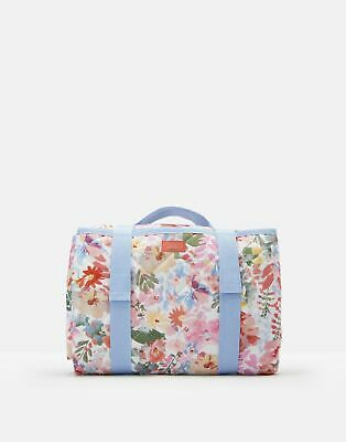 Joules Picnic Printed Water Resistant Rug ONE in WHITE FLORAL in One Size