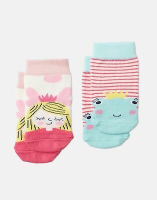 Joules Baby Neat Feet Two Pack Character Socks in PINK FROG FAIRY