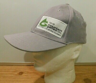 5a6dbd652 Teva Mountain Games Vail Gray Men s Baseball Cap Hat Size S M Fitted stretch