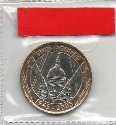 GREAT BRITAIN £2 pound coin 2005 60th Anniversary end of World War II St Pauls