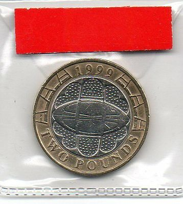 GREAT BRITAIN £2 pound coin 1999 Rugby World Cup