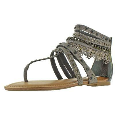 9a9318662f4 Not Rated Womens Wilma Taupe Gladiator Sandals Flats 6.5 Medium (B