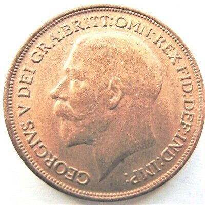 1917 Great Britain George V Orange Penny  Uncirculated.
