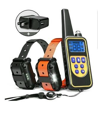 iSPECLE Dog Training Collar, 2018 Upgraded Waterproof Rechargeable 2600ft Remote