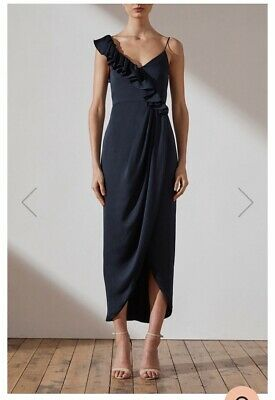 7abc3ee826c Shona Joy Luxe Asymetrical Frill Dress In Sapphire - Bridesmaid Or Event  Dress