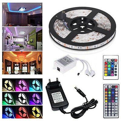 1-30M LED Stripe RGB Leiste Streifen 5050 Band IP65 Wasserdicht Lichterkette