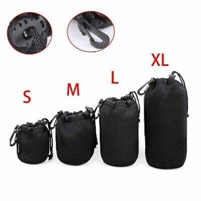 DSLR Camera Soft Lens Covers Pouch Case Protector Padded Bag Set S M L XL New
