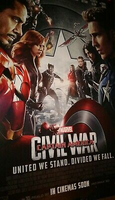 Avengers ENDGAME 27x40 DS Movie Poster CAPTAIN AMERICA CIVIL WAR JOE RUSSO +3x