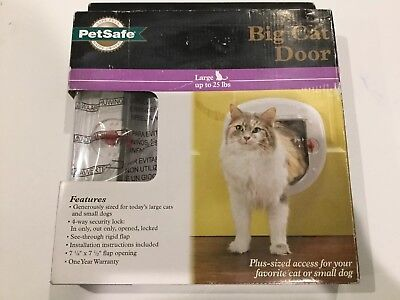 PETSAFE ~ Cat Dog White Interior Exterior Pet Flap Door