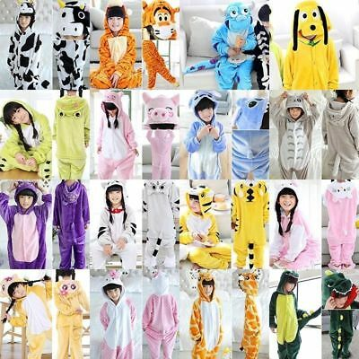 Kids Childs Unisex Onesis1x Animal Pajamas Kigurumi Cosplay Costume Sleepwear UK
