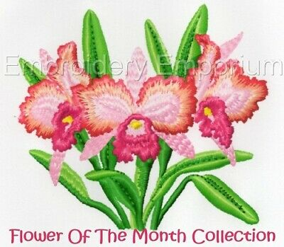 Flower Of The Month - Machine Embroidery Designs On Cd On Usb