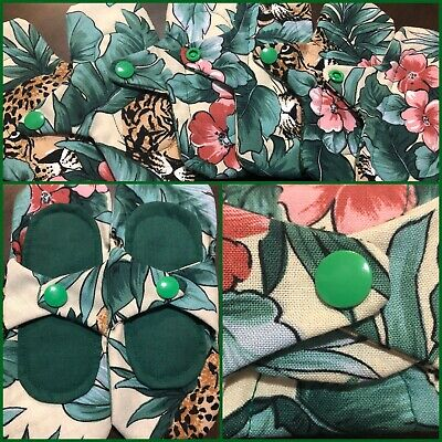 2 Cloth Panty Liners Lightly Padded Cotton Fabric Reusable Protection Leopards