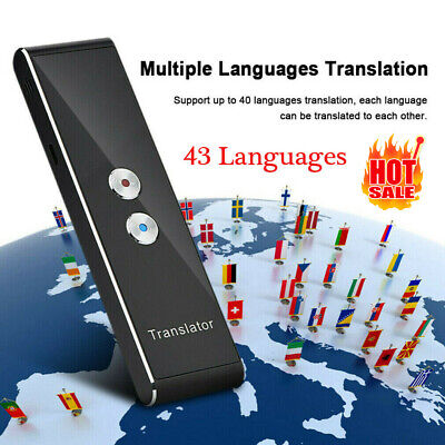 T8 Portable Bluetooth Smart 43 Languages 2.4G Translator Two Way Real Time Voice
