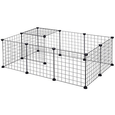 PawHut DIY Pet Playpen Metal Wire Fence Guinea Pig Small Animals Cage
