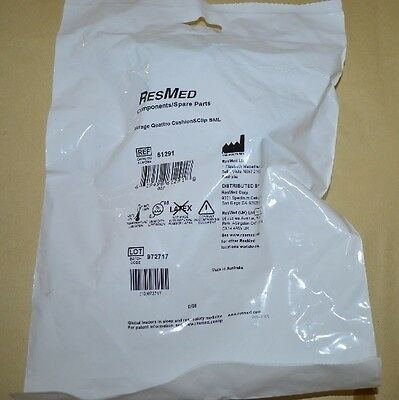 1 ResMed Mirage Quattro Cushion & Clip for CPAP Face Masks #61291 Small