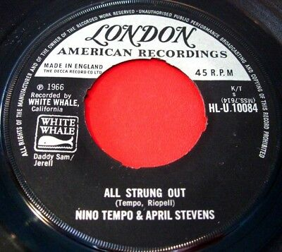 """Nino Tempo And April Stevens All Strung Out 7""""UK ORIG 1966 London American VINYL"""