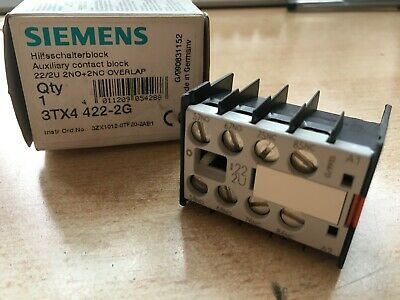Auxiliary Contact Block for E/M  Relay  3TX4422-2G  2NO/2NC  OVERLAP 22/2U Z3167