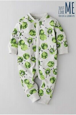 Next Just Like Me Baby Sprout Romper 0-3/3-6/6-9/9-12-18/18-24 Mths/2-3 Yrs BNWT