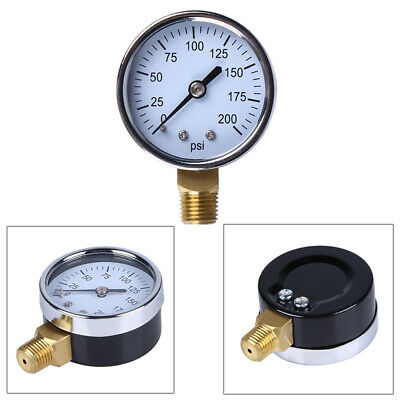 """Pressure Gauge 1/4 """"NPT mounting wire Side mounting 70*52*22mm 0-200psi Durable"""