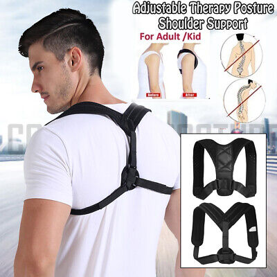 Men Women Adjustable Posture Corrector Back Corset Shoulder Support Brace Belt