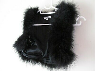 Girl's black feather gilet by Autograph Age 9-10yrs very good condition
