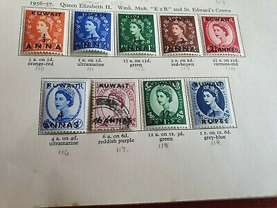 Kuwait 1956 Sg 110-119   Definitives  Mh (Sg 117 Is Used)