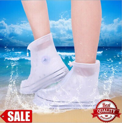 Rain Shoes Cover Reusable Waterproof Overshoe Rubber Boots for Cycling Outdoor