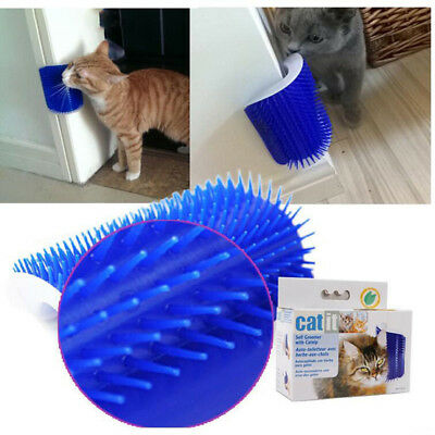 Cat Pet Self Groomer Brush Wall Corner Grooming Massager Comb Cat Comfort Toy