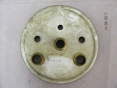 Antique Enammell Inner Dial for a French Visible CLock with Grommets For Visible