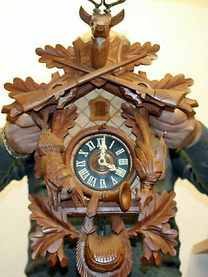 Old Cuckoo Wall Clock Black Forest Schwarzwald Large Clock Perfect 60 cm heigth